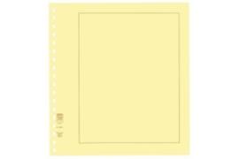 Lindner Blanco blad  Chamois (Geel) karton, Bruine kaderlijn (193 x 251) (Lindner 802b) (per stuk)