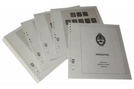 Lindner Inhouden / T-Voordruk albumbladen met folie voorbladen met stroken (Inhoud) Argentinië 1952-1969 (39 bladen) (Lindner 461-52)