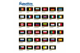 SAFE Zelfklevende vlag  Andorra 38 x 25 mm PER STUK