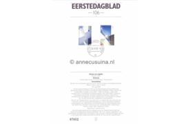 Nederland Importa EDB106 (NVPH 1525-1526) Eerstedagblad 150 jaar Bond Architecten BNA en Nieuwbouw Tweede Kamer 1992
