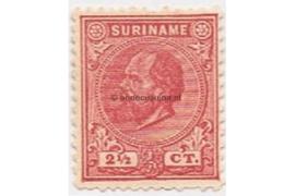 Suriname NVPH 3 Postfris (2 1/2 cent) Koning Willem III 1873-1889