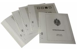 Lindner Inhouden / T-Voordruk albumbladen met folie voorbladen met stroken (Inhoud) Oud Duitsland 1850-1879 (34 bladen) (Lindner 107)
