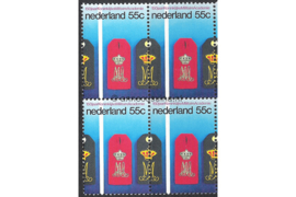 Nederland NVPH 1165 Postfris (55 cent) (Blokje van vier) 150 jaar Koninklijke Militaire Academie 1978