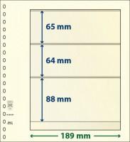 Lindner T-Blanco blad met 3 stroken (Lindner 802304) (per stuk)