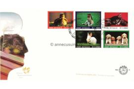 Nederland NVPH PBZ9 Onbeschreven Dieren met gekleurde kaders met logo TPG Post 2005