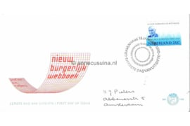 Nederland NVPH E102 Beschreven FOTOLEVERING Burgerlijk Wetboek 1969