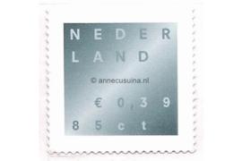 Nederland NVPH 1987 Postfris (Doorgestanst) (0,39/0,85) Rouwzegel in dubbele waarde 2001