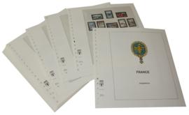 Lindner Inhouden / T-Voordruk albumbladen met folie voorbladen met stroken (Inhoud) Frankrijk 1977-1983 in kleur (38 bladen) (Lindner 132-77)