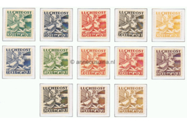 NVPH LP4-LP16 Ongebruikt Mercuriuskop 1931-1939