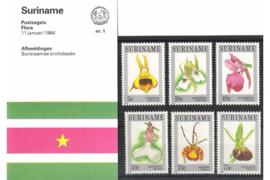 Zonnebloem nr 1-nr 100 Postzegelmapjes (Presentatiemapjes PTT)