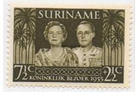 Suriname NVPH 324 Postfris Koninklijk bezoek 1955