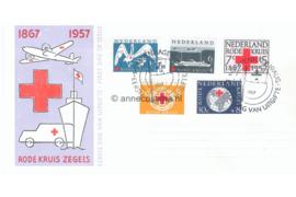 Nederland NVPH E31 Onbeschreven FOTOLEVERING 1e Dag-enveloppe Rode Kruis 1957