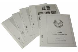 Lindner Inhouden / T-Voordruk albumbladen met folie voorbladen met stroken (Inhoud) Cyprus Turks-Cypr. Post 1997-2016 (45 bladen) (Lindner 298-97)
