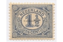 Nederland NVPH 52 Gestempeld (1 1/2 cent) Cijfer Vürtheim 1899-1913
