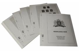 Lindner Inhouden / T-Voordruk albumbladen met folie voorbladen met stroken (Inhoud) Nederlands Indië 1864-1948 (34 bladen) (Lindner 428)