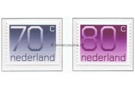 NVPH 1117A-1118A Postfris Rolzegels (70 en 80 cent) aan 2 zijden ongetand, Cijferserie (Crouwel-Zegels) 1991