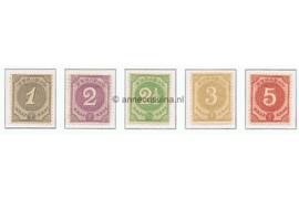 Curaçao NVPH 13-17 Postfris Cijfer 1889