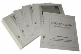 Lindner Inhouden / T-Voordruk albumbladen met folie voorbladen met stroken (Inhoud) Ganzsachen Speciale Briefkaarten 1949-2011 (50 bladen) (Lindner 120B-SK)