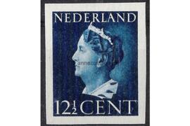 Nederland NVPH 336v Postfris Ongetand (12 1/2 cent) Koningin Wilhelmina 1940-1947