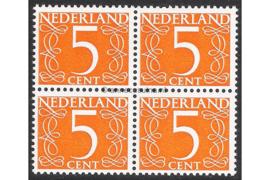 Nederland NVPH 465b Postfris FOSFOR (5 cent) (Blokje van vier) Cijfer van Krimpen 1946-1957