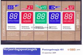Nederland NVPH M401 (PZM401) Postfris Postzegelmapje Verjaardagpostzegels 2009