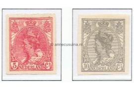 NVPH 82-83 Postfris Koningin Wilhemina (ongetand) 1923