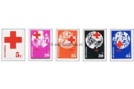 NVPH 1015-1019 Postfris Rode Kruiszegels 1972