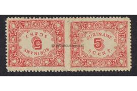 NVPH 58a Ongebruikt FOTOLEVERING (Keerdruk 5 cent doorstoken) Hulpuitgifte 1909