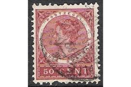 Suriname NVPH 55 Gestempeld FOTOLEVERING (50 cent) Koningin Wilhelmina 1904-1908