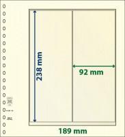 Lindner T-Blanco blad met Stroken voor Rolzegels (Lindner 802119) (per stuk)