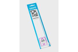 DAVO Cristal stroken C20 (215 x 24) 25 stuks