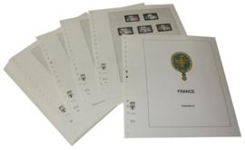Lindner Inhouden / T-Voordruk albumbladen met folie voorbladen met stroken (Inhoud) Frankrijk 1984-1989 in kleur (35 bladen) (Lindner 132-84)
