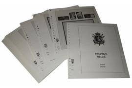 Lindner Inhouden / T-Voordruk albumbladen met folie voorbladen met stroken (Inhoud) België 2004-2006 (42 bladen) (Lindner 127-04)
