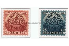Nederlandse Antillen NVPH 209-210 Postfris 75 Jaar Wereldpostvereniging (UPU) 1949