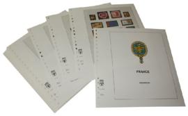 Lindner Inhouden / T-Voordruk albumbladen met folie voorbladen met stroken (Inhoud) Frankrijk 2003-2005 in kleur (38 bladen) (Lindner 132-03)