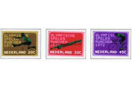 NVPH 1012-1014 Postfris Olympische Spelen Munchen 1972