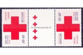 Nederlandse Antillen NVPH 592a Postfris FOTOLEVERING Keerdruk MET 4 KLEINE KRUIZEN Rode Kruis 1978