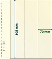 Lindner T-Blanco blad met Stroken voor Rolzegels (Lindner 802122) (per stuk)