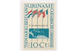 NVPH 325 Postfris 10 jaar Caribische commissie