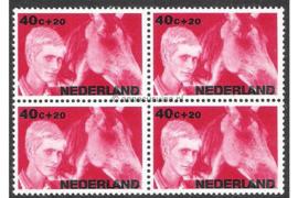 Nederland NVPH 874 Postfris (40 + 20 cent) (Blokje van vier) Kinderzegels, levensstadia kinderen 1966