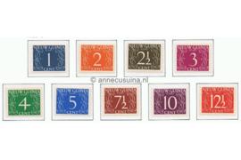 NVPH 1-9 Postfris Cijfer van Krimpen