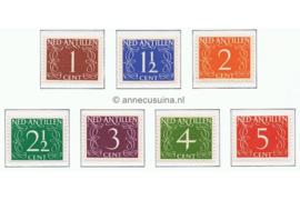 Nederlandse Antillen NVPH 211-217 Postfris Cijfer Van Krimpen 1950