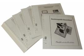 Lindner Inhouden / T-Voordruk albumbladen met folie voorbladen met stroken (Inhoud) Plaatfouten en andere bijzonderheden 1990-1991 (45 bladen) (Lindner 120BF-90)