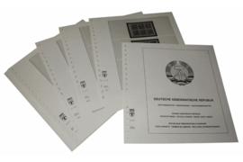 Lindner Inhouden / T-Voordruk albumbladen met folie voorbladen met stroken (Inhoud) Duitse Democratische Republiek; Automaatboekjes, Dienstzegels, Boekjes en Pakketnummerbladen 1954-1988 (19 bladen) (Lindner 121R)