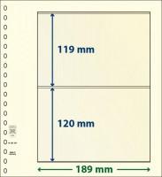 Lindner dT-Blanco blad met 2 stroken (Lindner dT802204) (per stuk)