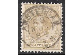 AMSTERDAM 28-11-1888 op NVPH 27 FOTOLEVERING