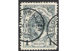 Nederland NVPH 49 Gestempeld (Geldermalsen) FOTOLEVERING Inhuldigingszegel Koningin Wilhelmina (Kroningsgulden) 1898