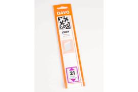 DAVO Easy stroken transparant T21 (215 x 25) 25 stuks