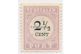 NVPH P9 Ongebruikt (2 1/2 cent) Cijfer en waarde in zwart 1892-1896