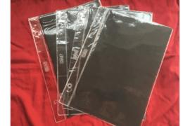 Gebruikt; Partij van 4 stuks DAVO Plastic FDC Mappen met zwarte kaartjes (G1 formaat)
